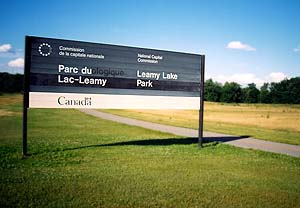 Leamy Lake Park sign